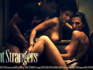 Night Strangers - Emylia Argan & Stacy Bloom & Don Diego - SexArt
