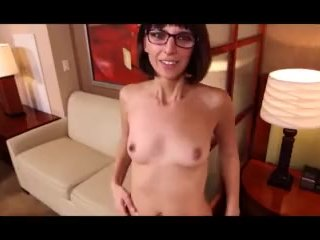 Nerdy fucky-fucky junkie cougar reaches ejaculation during facial cumshot