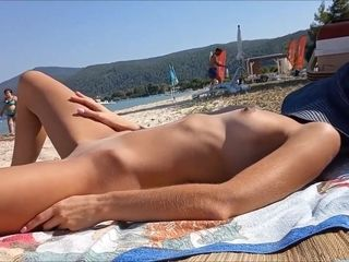 Real first-timer wifey naked in public beach