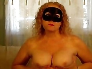 mask Milf chewing gum with hot cum