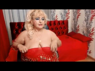 Granny BBW flexes say no to fat biceps mainly cam