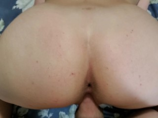 Teenage with elastic rump railing and ravaging for a internal orgasm (Long)