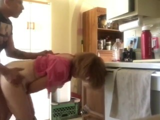 Insatiable mature woman gets tough buttfuck penetration screwed by youthful guy in the kitchen